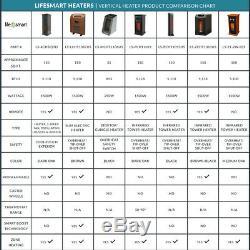 Lifesmart Lifepro 6 Élément 1500w Portable Chaufferette Quartz Infrarouge Électrique
