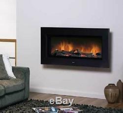 Logs Optiflame Fixés Au Mur Contemporains Au Feu Électrique 2kw De Dimplex Sp16, Noir