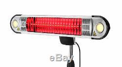 Lumières Extérieures De Jardin De Firefly 1.5kw D'appareil De Chauffage De Patio Électrique D'halogène Et À Distance