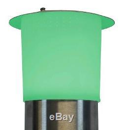 Lumières Led D'appareil De Chauffage De Patio Électrique Bluetooth Et Résistant À L'eau À Distance 1500w