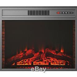 Luxe 1.8kw Électrique Cheminée Suite Led Log Fire Burning Flame XL Mdf Surround