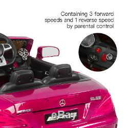 Mercedes Benz Enfants Ride On Car Télécommande Électrique Sous Licence Amg 12v Rose