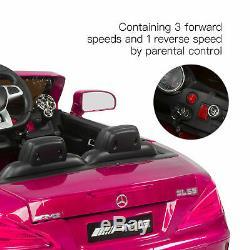 Mercedes Benz Tour Sur La Voiture 12v Enfants Amg Électrique À Distance Licensed Rose Contrôle