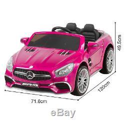 Mercedes Benz Tour Sur La Voiture Électrique Pour Enfants 12v Licensed Amg Télécommande Rose Contrôle
