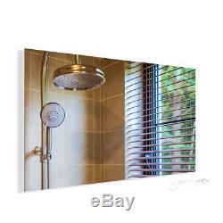 Miroir De Chauffage Infrarouge Électrique Salle De Bains Chauffage Panneau De Support Mural Raditor Ip54