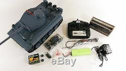 Modèle Allemand Tiger 1 Télécommande Rc Armée Militaire Guerre Mondiale Tank Smoke Sound