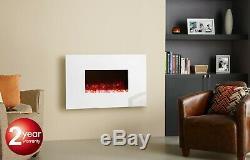 Montage Mural Feu Électrique Avec Verre Blanc Cadre Gazco Radiance 50w Srp £ 645