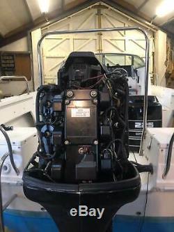 Moteur De Démarrage Électrique Mercury V6 225hp 2 Temps À Télécommande Hors-bord D'occasion