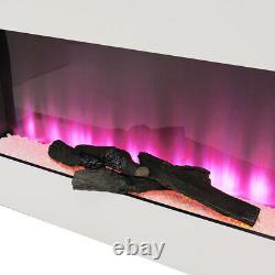 Mur Électrique De Feu Monté 7 Led Flame Fireplace Surround Fire Suite Remote/wifi