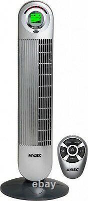 Mylek Tower Fan Electric Oscillating Remote Control Timer Air Purificateur 6 Vitesse