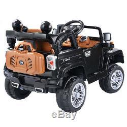 New Kids Ride On Car Batterie Électrique 12v 4ch Télécommande Jeep Toys Mp3 Noir