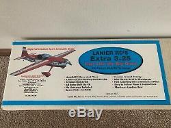 New Vintage Lanier Rc Extra 300 3,25 Balsa Télécommande Kit D'avion