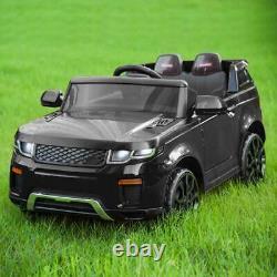 Nouveau 12v Kids Electric Battery Ride On Car Parental Remote Control Black