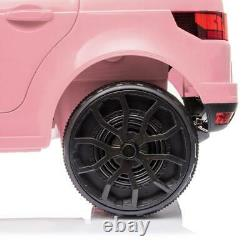Nouveau 12v Kids Electric Battery Ride On Car Parental Remote Control Pink