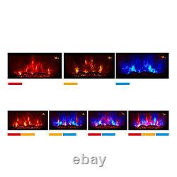 Nouveau 2020 Led Couleur Effet De Flamme Truflame Log Curved Wall Mounted Electric Fire