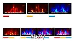 Nouveau 2020 Led Flames 7 Colour Side Lit Truflame Curved Wall Mounted Electric Fire