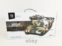 Nouveau 2.4g Rc 124 Heng Long Leopard 2a6 Airsoft Tank Remote Control Infrared V5