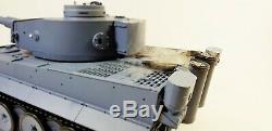 Nouveau 2.4g V6 Heng Long Radio Télécommande Rc Réservoir Allemand De Tigre Fumée Sonore Bb