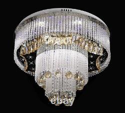 Nouveau Design Lampe De Plafond En Cristal Moderne Avec Mp3 Bluetooth Et Remote 8213
