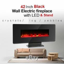 Nouveau Foyer Électrique À Effet De Flamme Pour Foyer Électrique Mural 1400w 42 + Télécommande