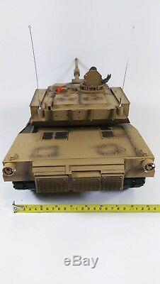 Nouveau Heng Long Radio Télécommande Rc Abrams M1a2 Desert Camo Réservoir 1 / 16e 2.4ghz