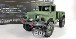 Nouveau Heng Long Radio Télécommande Rc Camion Jeep Réservoir 4wd Armée Armée 2.4ghz