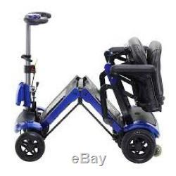 Nouveau Scooter De Mobilité Se Pliant À Télécommande Électrique À 4 Roues Automatique Réduit