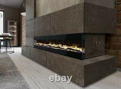 Nouveau Style Electric Fire 3 Tailles Blanc Ou Noir Mur Encastré Insert Ou Mantel