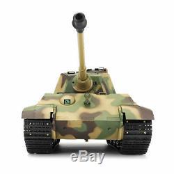 Nouveau V6 Rc Tank Henglong Roi Tiger 2.4g Radio Télécommande Rc Militaire De L'armée Bb