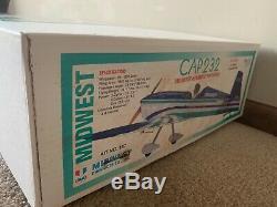 Nouveaux Produits Midwest Cap 232 27% Échelle Rc Télécommande Balsa Kit Avion