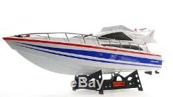 Nouvel Énorme Télécommande Blanche Rc Heng Long Atlantic Racing Speed yacht Rtr
