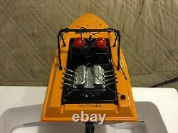 Nqd 757-6024 Jaune Tear Into Rc Télécommande Jet Boat Avec Batterie Supplémentaire