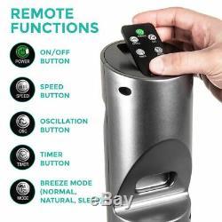 Oscillant Numérique Tour Ventilateur À Distance Chronocommande Ultra Slim 47 Refroidissement Slim