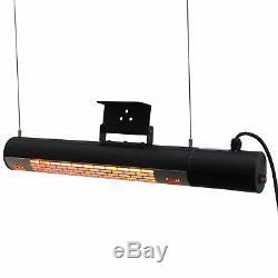 Outsunny 1500w Électrique Halogène Chauffagistes Warmer Montage Mural Télécommande