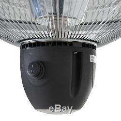 Outsunny Patio Plafond Suspendu Chauffe-1500w Électrique En Aluminium Télécommande