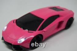 Pink Lambo Rc Voiture Radio Télécommande Voiture Sans Fil 1/16 Échelle New Boxed