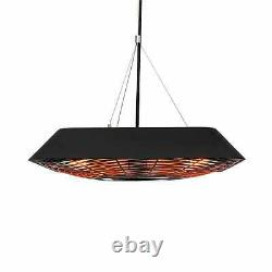 Plafond Infrarouge Radiant Heater Space Outdoor Patio Heating 2000w Led Remote Bl