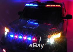 Police Car Jeep Suv Kids Ride On Remote Control Voiture Électrique Mégaphone