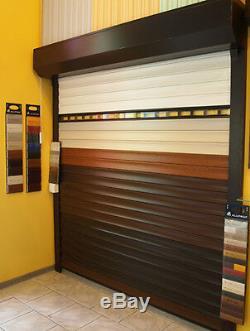 Porte De Garage À Rouleau, Commande À Distance Électrique, Profilés Remplis De Mousse De 55 MM