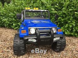 Pour Les Enfants Sur La Voiture Électrique Jeep Tour Camion 4x4 2.4g Télécommande 2 Sièges