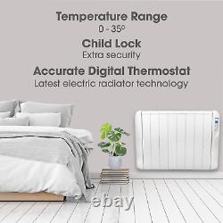 Radiateur De Chauffe-panneaux Électriques De 2000w Avec Mur De Thermostat De Caleur Monté