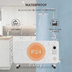 Radiateur De Réchauffeur Électrique De Panneau De Wifi Avec Le Thermostat Mince Monté Sur Le Mur De 24/7 De 24/7
