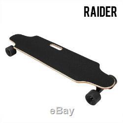 Raider Electric Skateboard Longboard Télécommande Et Chargeur Noir Long Board
