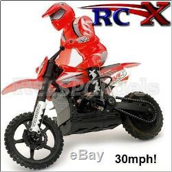 Rapide Rc Off Road Motor Bike Motocross Vélo / Moto Radio 30 Mph De Contrôle À Distance