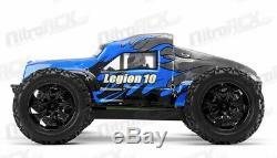 Rc Exceed Legion 1/10 Monstre Électrique Télécommande Camion Rtr 2.4ghz (dd Bleu)