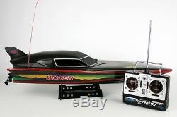 Rc Radio Remote Control Lacrymogène Dans Jet Boat Batman Noir Furtif Diable Speedboat