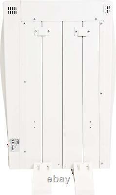 Réchauffeur De Panneau Électrique Mural Radiateur 600w Convecteur Avec Minuterie En Aluminium
