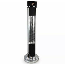 Réchauffeur Vertical De Patio 2kw Télécommande Portable Jardin Extérieur Debout