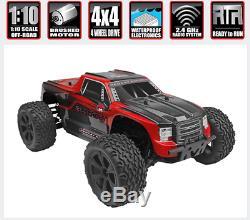 Redcat Blackout Xte Echelle 1/10 Brossé Télécommande Électrique Télécommande Rc Truck 4x4 Rouge