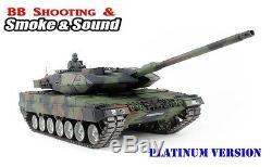 Réservoir Rc Télécommandé Heng Long Nato Leopard 2a6 - Platinum